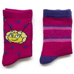 Lot de 2 paires de chaussettes Maya - Rose/violet
