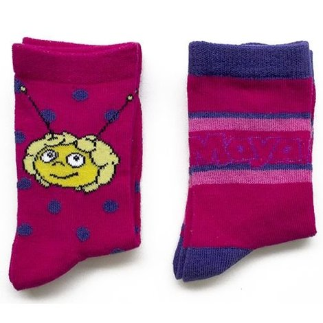 Sokken Maya: 2-pack roze/paars