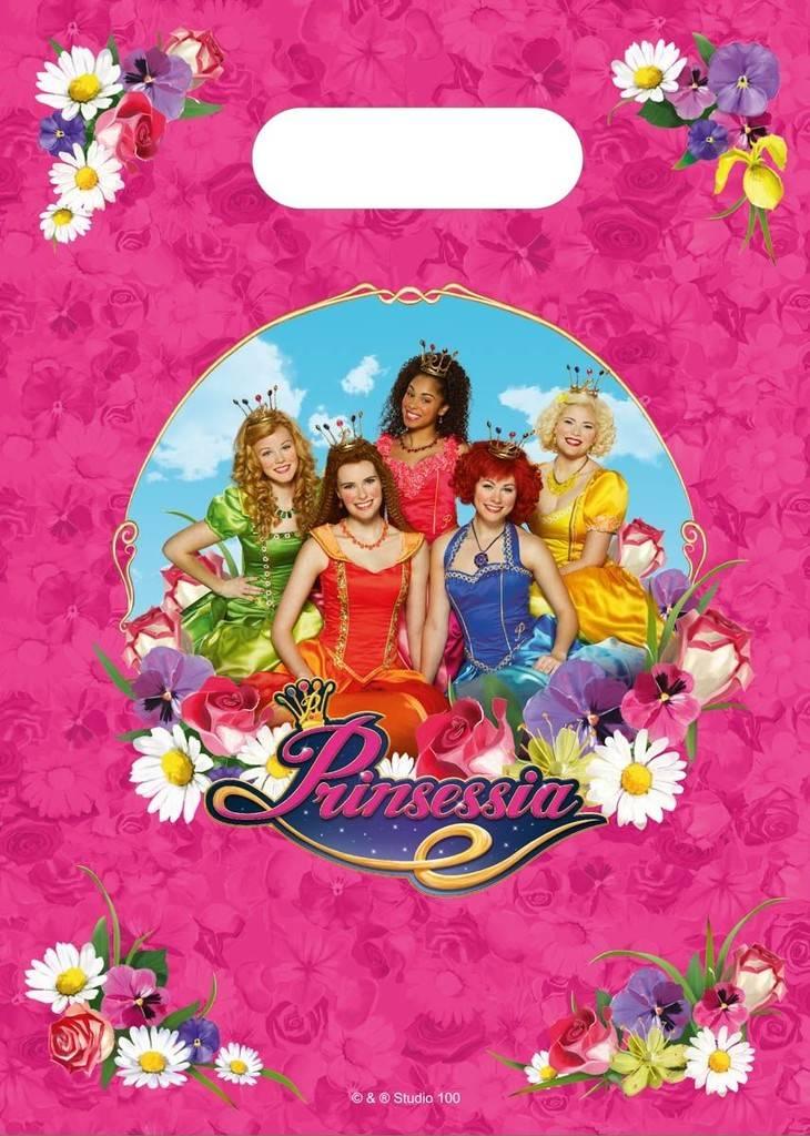 Uitdeelzakjes Prinsessia: 8 stuks