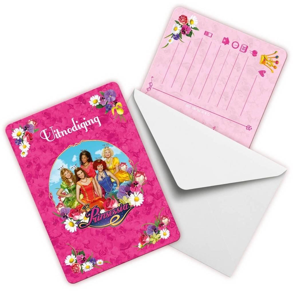 Prinsessia Uitnodigingen 8 stuks