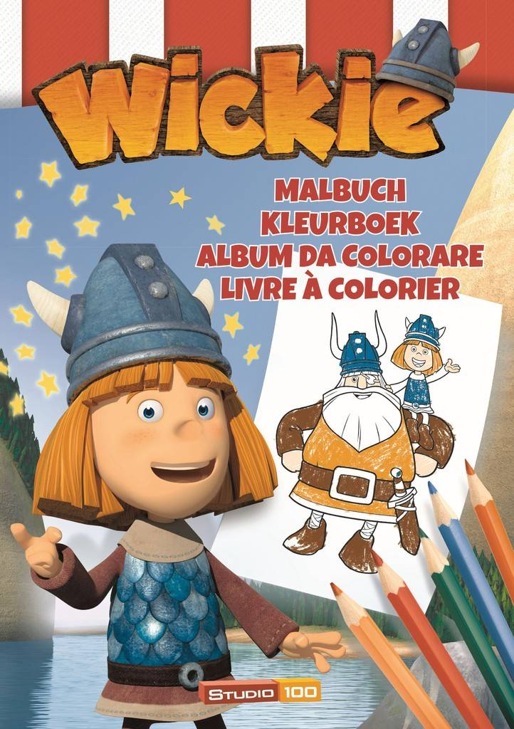 Wickie de Viking Kleurboek A4 - Zeil