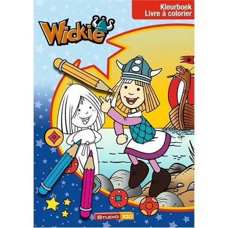 Wickie de Viking Kleurboek - Bos