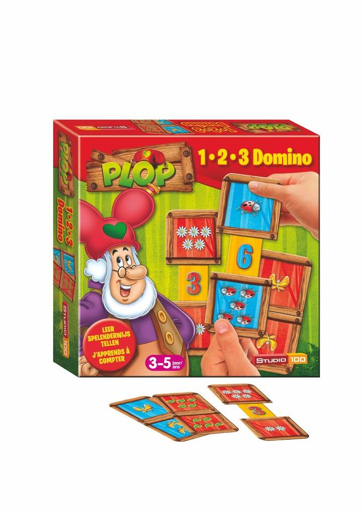 Kabouter Plop 1-2-3 domino