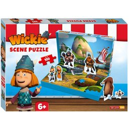 Wickie de Viking Puzzel Scene - 100 stukjes