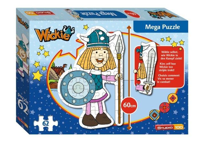 Puzzel Wickie vloer: 62 stukjes