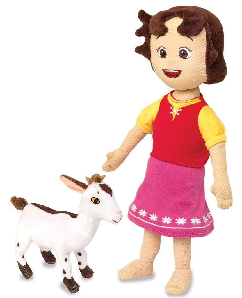 Peluche Heidi et sa chèvre - 30 cm