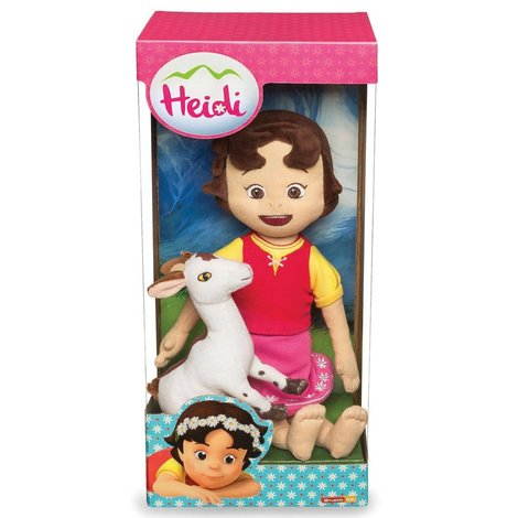 Heidi Pluche - Heidi met geit 30 cm