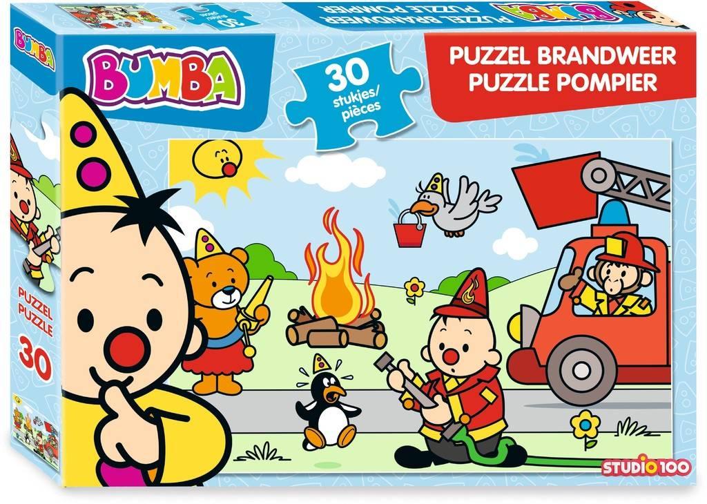 Puzzel Bumba brandweerman: 30 stukjes