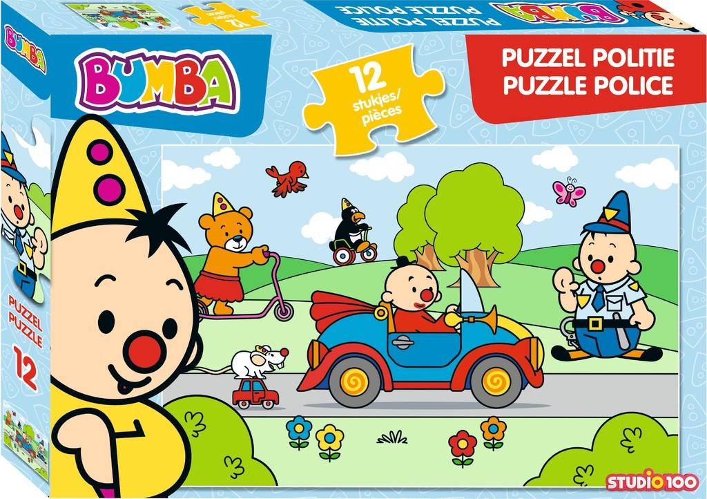 Bumba Puzzel - Politie 12 stukjes