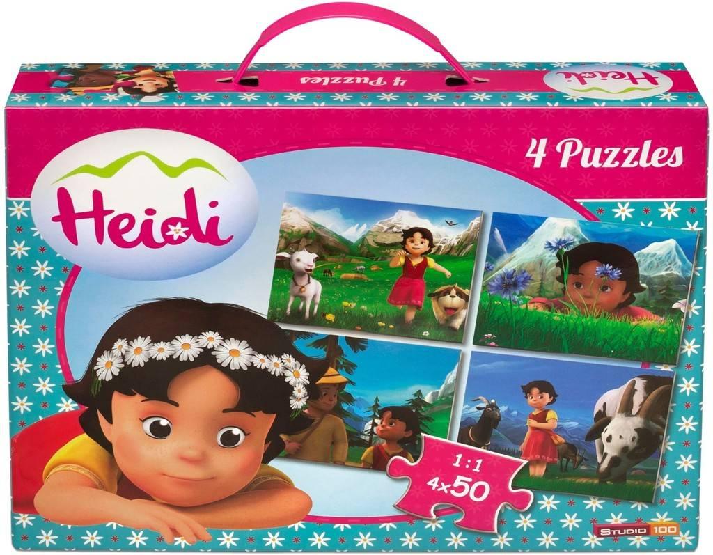 Heidi Puzzel koffer - 4 x 50 stukjes