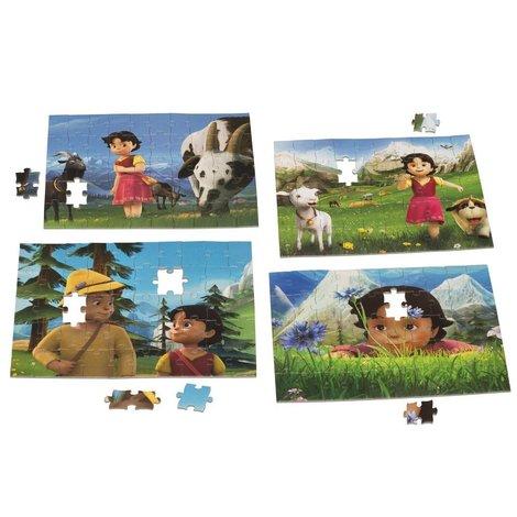 Heidi Puzzle valise - 4x 50 pièces