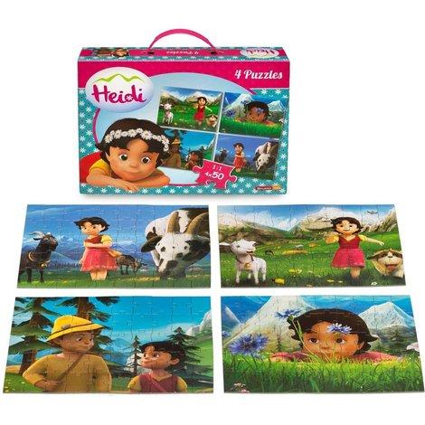 Puzzle valise Heidi 4x50 pièces