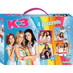 K3 Puzzle valise 4 en 1