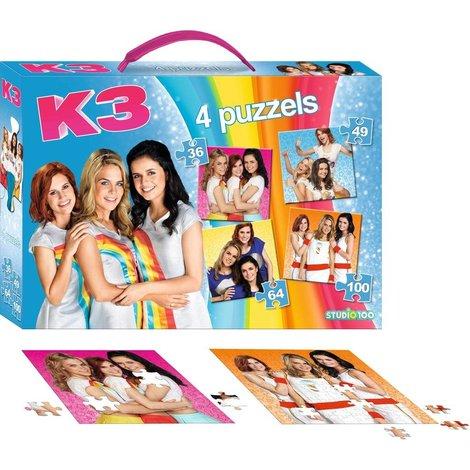 K3 Puzzel koffer 4 in 1