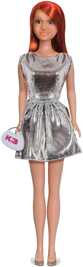 Kleding K3 tienerpop: jurkje zilver