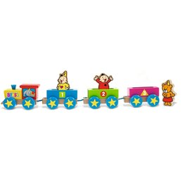 Train en bois et figurines Bumba