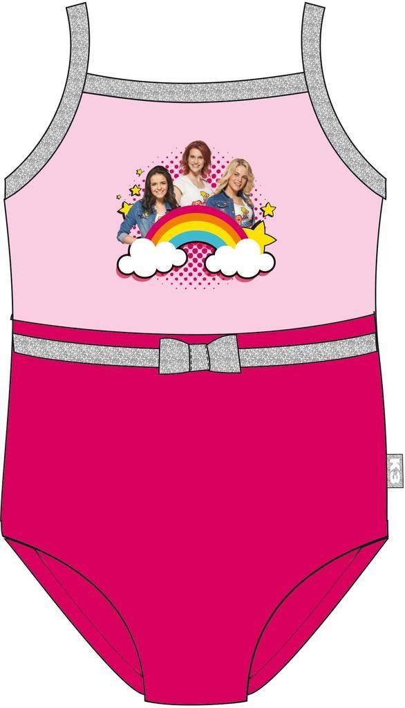 Badpak K3 roze regenboog