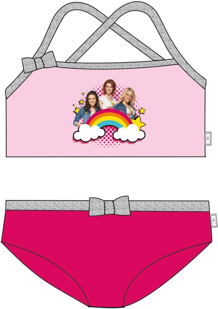 K3 Bikini roze regenboog