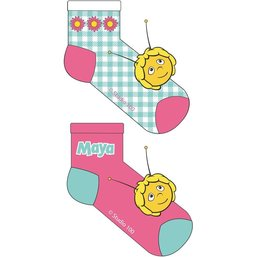 Maya de Bij Sokken 2-pack roze/mint
