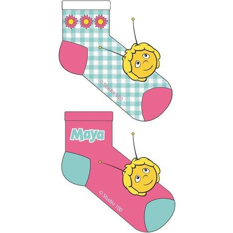 Maya de Bij Sokken roze/mint - 2 stuks
