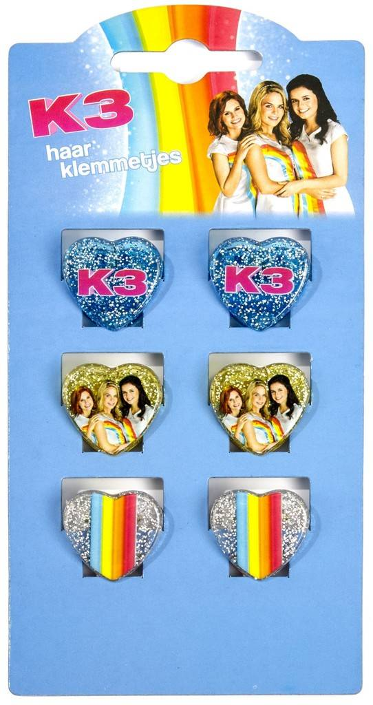 K3 Pinces à cheveux - 6 pièces