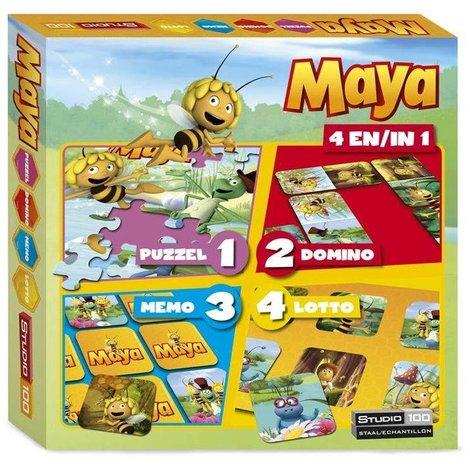 Maya de Bij 4 in 1 Spellendoos