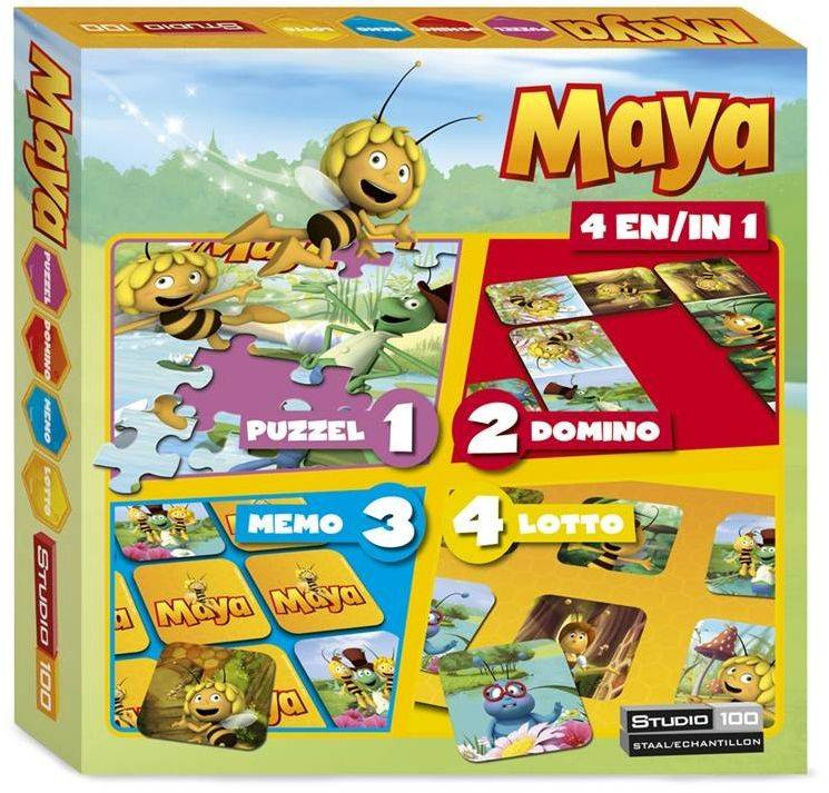 Maya de Bij Spel 4 in 1 Spellendoos
