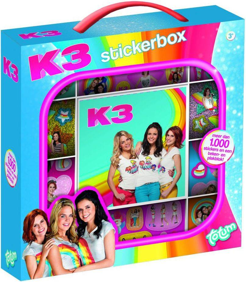 Sticker box K3 ToTum: 1000+ stickers