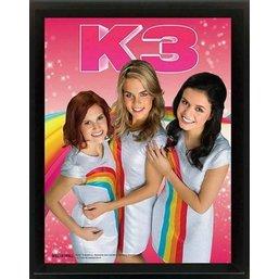 Poster K3 framed 28x23 cm: regenboog