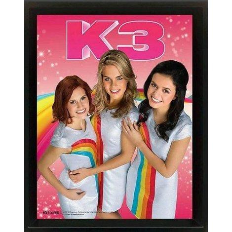 K3 Poster framed regenboog