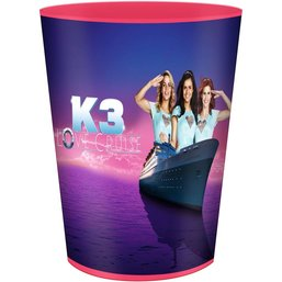 Beker frosted K3 paars: Love Cruise