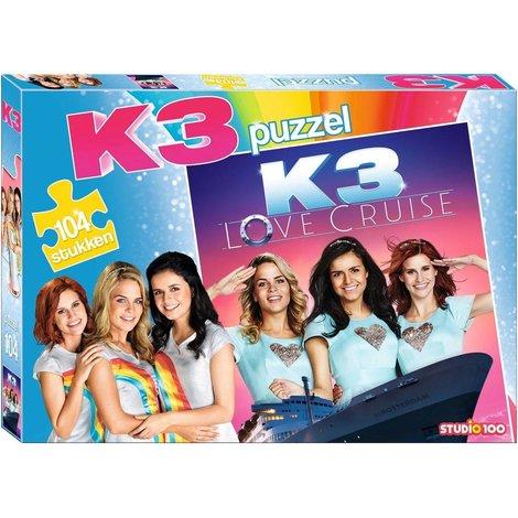 Puzzel K3 Love Cruise: 104 stukjes