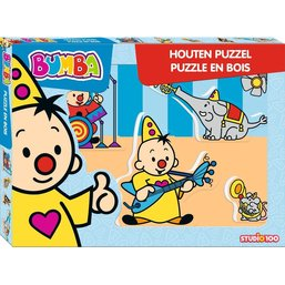 Puzzel Bumba hout muziek: 5 stukjes