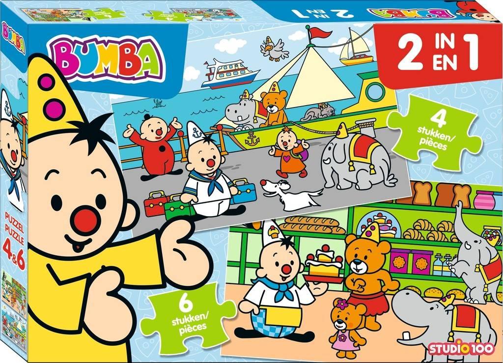 Bumba Puzzle 2 en 1 - 4 et 6 pièces