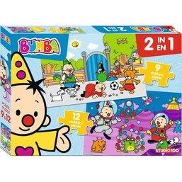 Bumba Puzzle 2 en 1 - 9 et 12 pièces