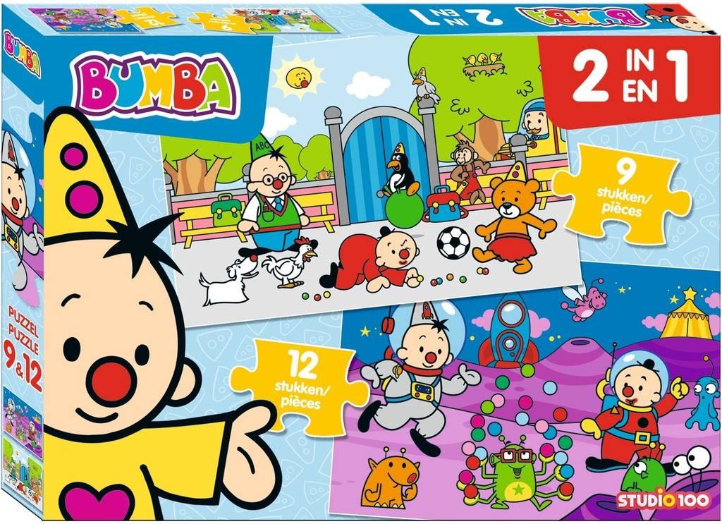 Puzzle 2 en 1 Bumba - 9 et 12 pièces
