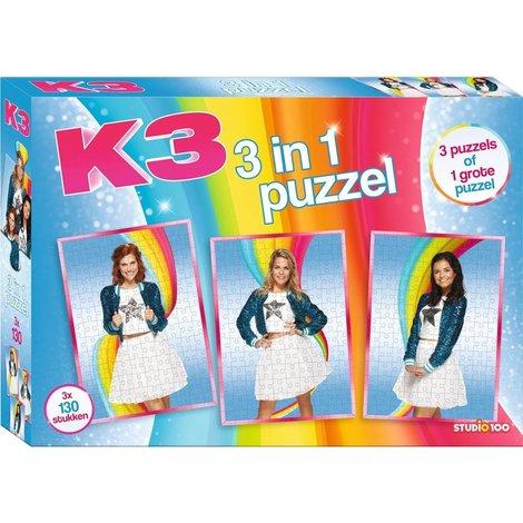 K3 Puzzel - 3x 130 stukjes
