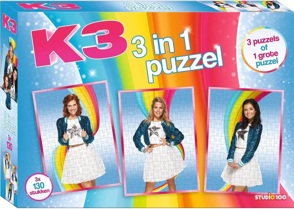 K3 Puzzel - 3x130 stukjes