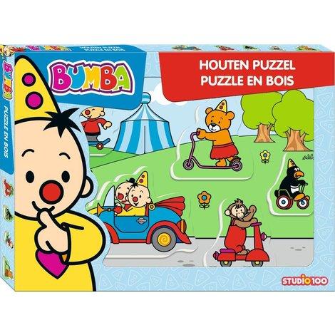 Puzzle en bois Bumba - Véhicules 5 pièces