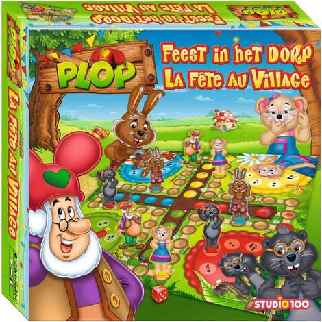 Feest in het dorp Plop en de Peppers