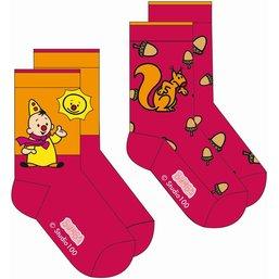 Bumba sokken 2-pack eekhoorn
