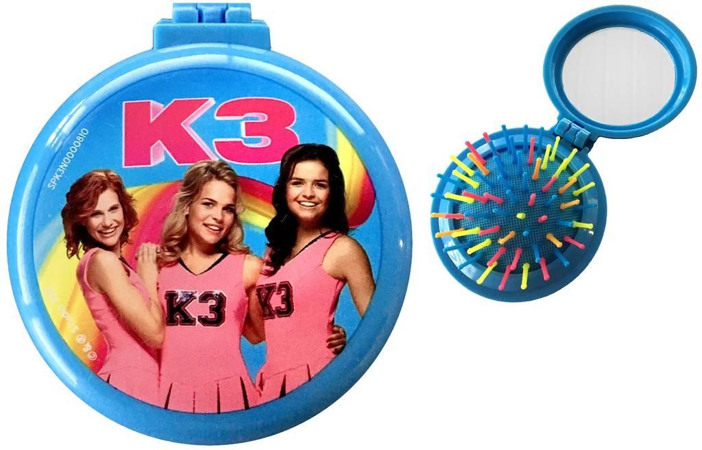 Haarborstel met spiegeltje K3