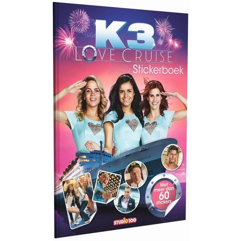 Stickerboek K3: Love Cruise