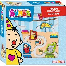 Bumba Puzzle coulissant en bois - 5 pièces