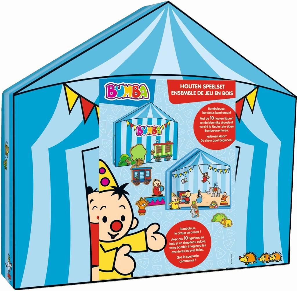 Tente pour box de jeu avec 10 figurines en bois