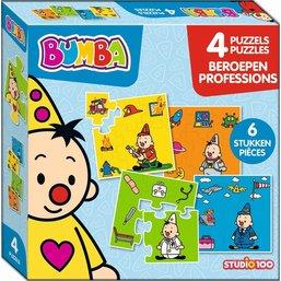 Bumba Puzzle 4 en 1 - Professions