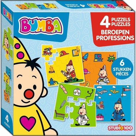 Puzzle 4 en 1 Bumba - Les métiers