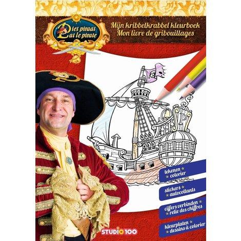 Piet Piraat Kleurboek - Kribbelkrabbel