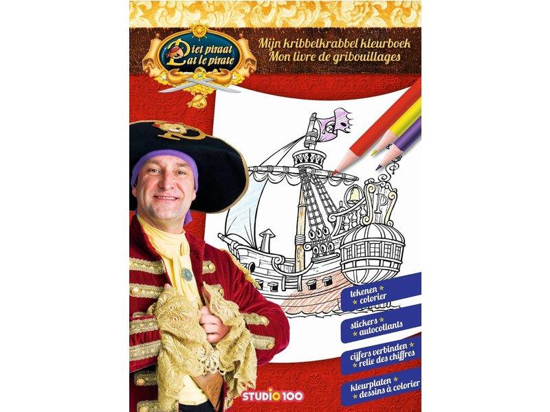 Piet Piraat Kleurboek Piet Piraat Kribbelkrabbel Studio 100 Webshop