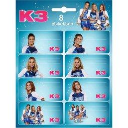 K3 Etiketten - 8 stuks